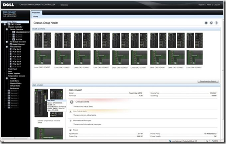 PowerEdge VRTX - CMC - Multi-Chassis View Screenshot